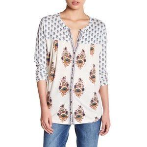 Lucky Brand - Woven Mixed Print Shirt